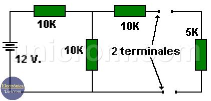 Teorema de thevenin, los dos terminales