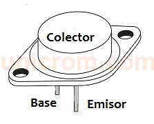 Transistor bipolar NPN 2N3055