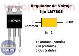 Regulador de voltaje fijo 7905 (-5V)