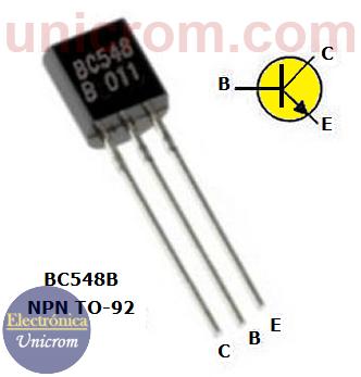 Transistor bipolar NPN BC548B