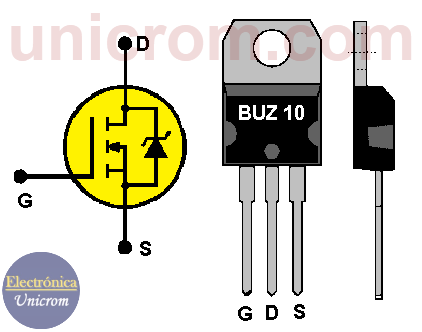 Transistor FET de potencia BUZ10