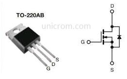 IRF540 - Transistor MOSFET de potencia