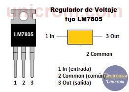 Regulador de voltaje fijo LM7805