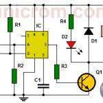 Interruptor ON-OFF con 555 y 2 pulsadores (Cir. impreso)