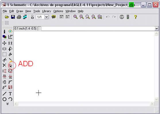 Agregar componentes al esquemático en Eagle Layout Editor (primer método) - Electrónica Unicrom