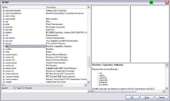 Agregar componentes al esquemático en Eagle Layout Editor (segundo método) - Electrónica Unicrom