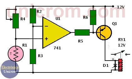 Circuito de alarma por exceso de temperatura