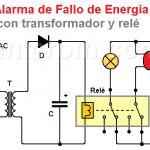 Alarma de Fallo de Energía con transformador y relé