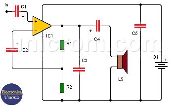 Amplificador de audio 8W con LM383