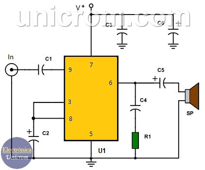 Cómo hacer un amplificador de audio de 6 watts con el TDA2613