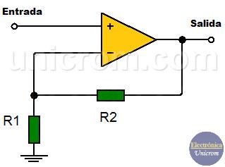 Amplificador no Inversor con Amplificador Operacional