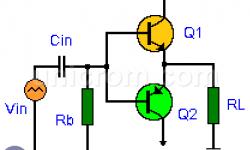 Amplificador contrafásico o Push - Pull