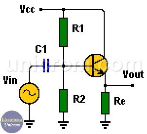 Amplificador colector común - Amplificador emisor seguidor