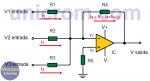 Amplificador sumador con Amplificadores operacionales