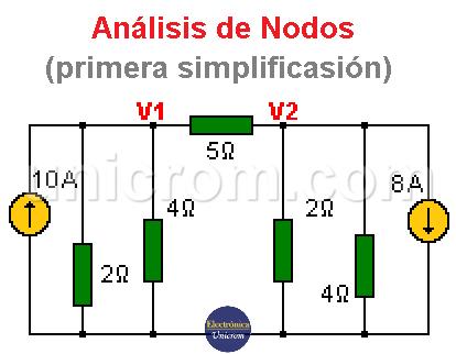 Análisis de Nodos. Utilización del teorema de Norton