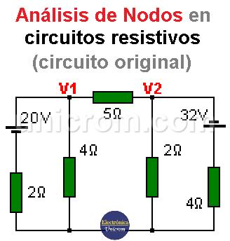 Análisis de Nodos - Circuito original