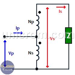 Autotransformador elevador implementado con transformador convencional
