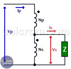 Autotransformador reductor con transformador convencional