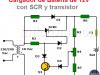 Cargador batería 12V con SCR y transistor