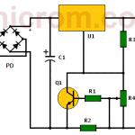 Circuito cargador de batería de plomo de 24V