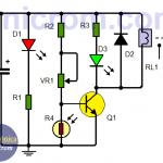 Circuito detector de oscuridad