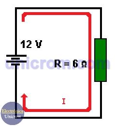 Circuito ejemplo - Ley de Ohm y la potencia eléctrica