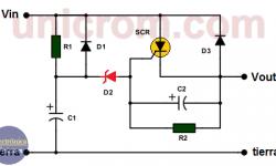 Circuito protector de sobre-voltaje (retardador de voltaje)