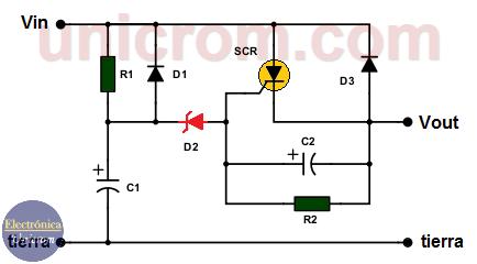 Circuito protector de sobre-voltaje