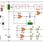 Circuito de timbre para sordos (ayuda visual)