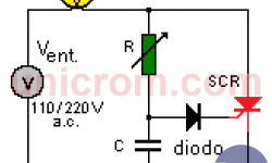 Tiristor - SCR en corriente alterna
