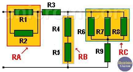 Simplificación de Circuitos Mixtos - Circuito original