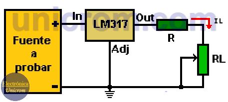 Como probar una fuente de voltaje con regulador LM317