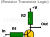 Compuerta NOT RTL (Resistor Transistor Logic)