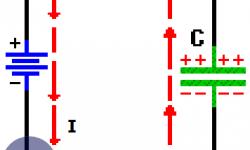 Condensador en CC (CD) - Capacitor y la corriente directa