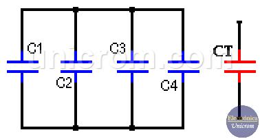 Condensadores en paralelo - Condensadores o capacitores en serie y paralelo