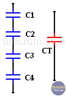 Condensadores en serie - Condensadores o capacitores en serie y paralelo