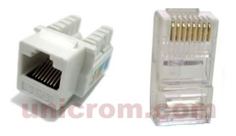 Conectores para cables UTP
