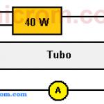 Tubo fluorescente de precalentamiento