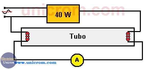 Tubo fluorescente de precalentamiento de 40 watts con balastro de 3 hilos para 120VAC