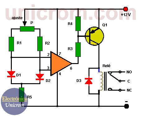 Circuito de control por diferencia de temperatura