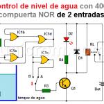 Control de nivel de agua con 4001