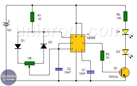 Control de cantidad de iluminación LEDs - PWM - Modulación por Ancho de Pulso