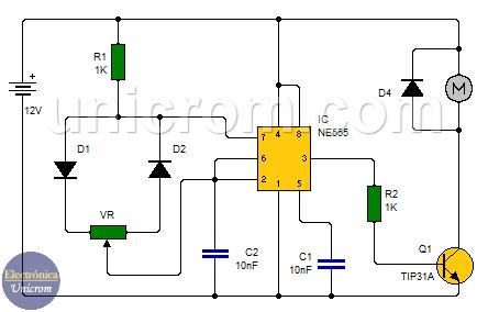 Control de velocidad de motor CC - PWM - Modulación por Ancho de Pulso