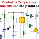 Control de temperatura ambiente con 555