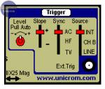 Controles de disparo del osciloscopio