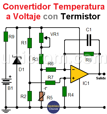 Convertidor Temperatura - Voltaje con termistor