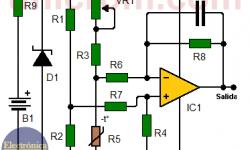 Convertidor temperatura - voltaje con termistor (circuito impreso)