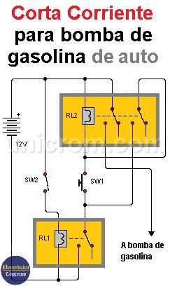Corta corriente para bomba de gasolina de automóvil