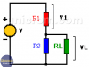 Divisor de voltaje para alimentar resistencia de carga