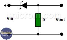 Desplazador de voltaje con diodo zener
